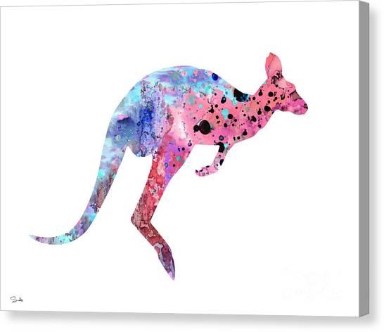 Kangaroo Canvas Print - Kangaroo 2 by Watercolor Girl