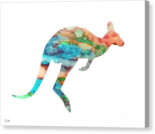 Kangaroo Canvas Print - Kangaroo 3 by Watercolor Girl