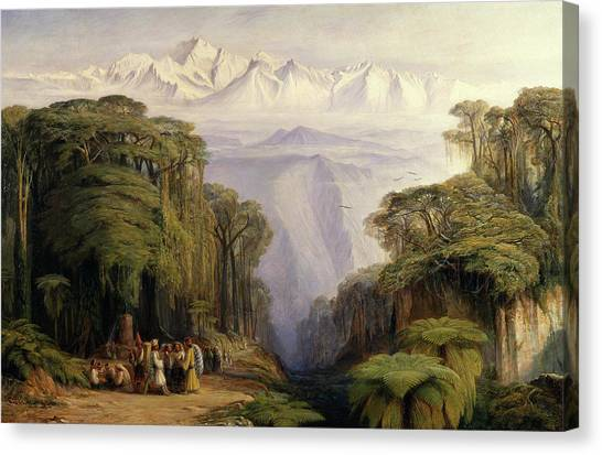Kangchenjunga Canvas Print - Kangchenjunga From Darjeeling Kinchinjunga From Darjeeling by Litz Collection