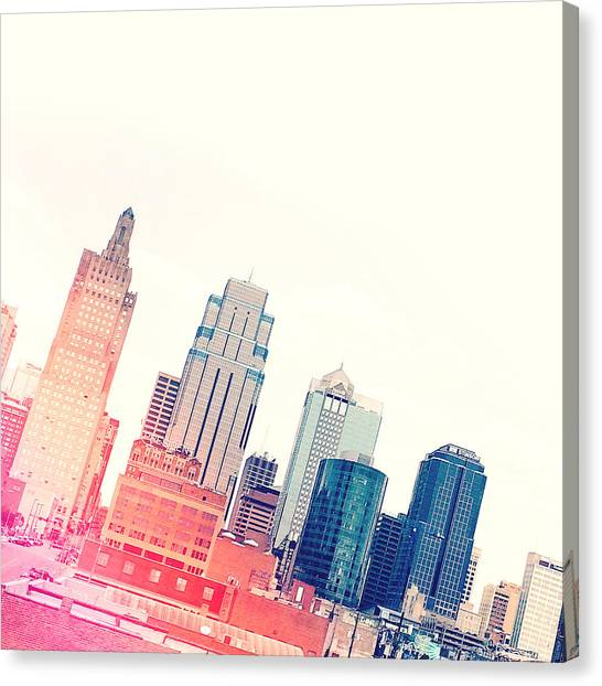Lines Canvas Print - Kansas City #4 by Stacia Weiss
