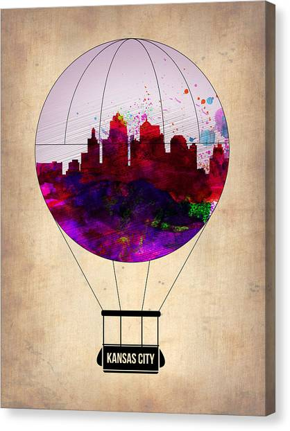 Missouri Canvas Print - Kansas City Air Balloon by Naxart Studio