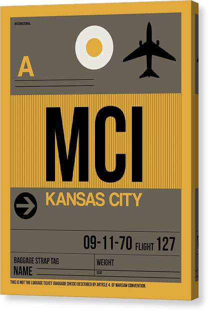 Missouri Canvas Print - Kansas City Airport Poster 1 by Naxart Studio