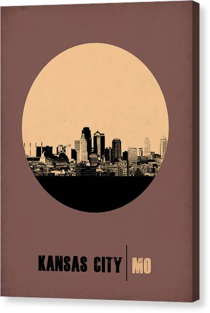 Missouri Canvas Print - Kansas City Circle Poster 2 by Naxart Studio