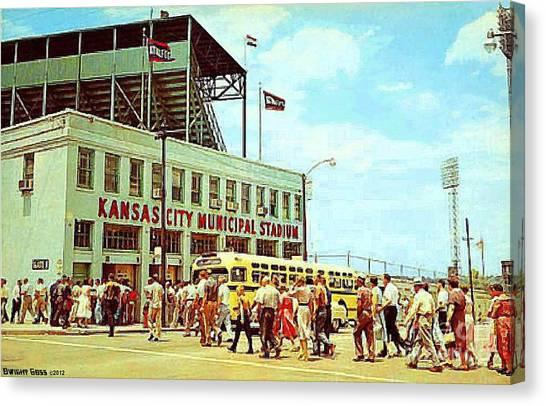 Kansas City Municipal Stadium In The 1950's Canvas Print