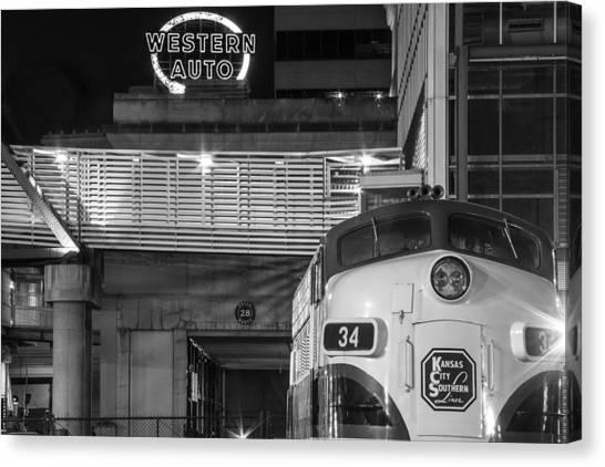 Kansas City Night Train Canvas Print