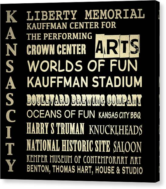 Kansas City Famous Landmarks Canvas Print