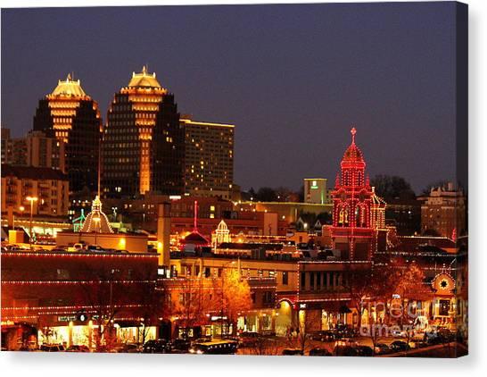 Kansas City Plaza Lights Canvas Print
