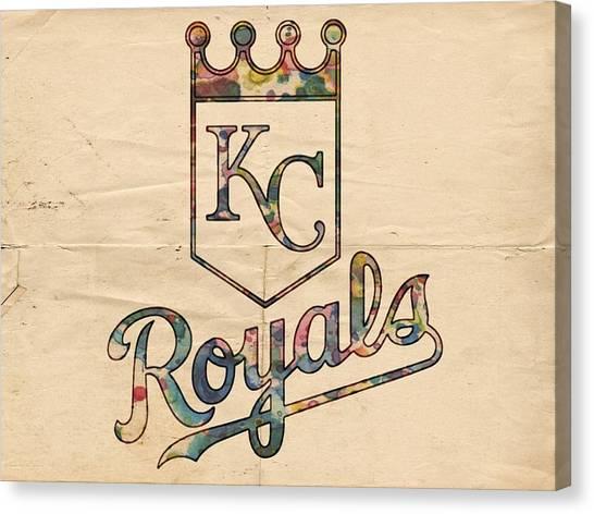 Kansas City Royals Canvas Print - Kansas City Royals Poster Vintage by Florian Rodarte