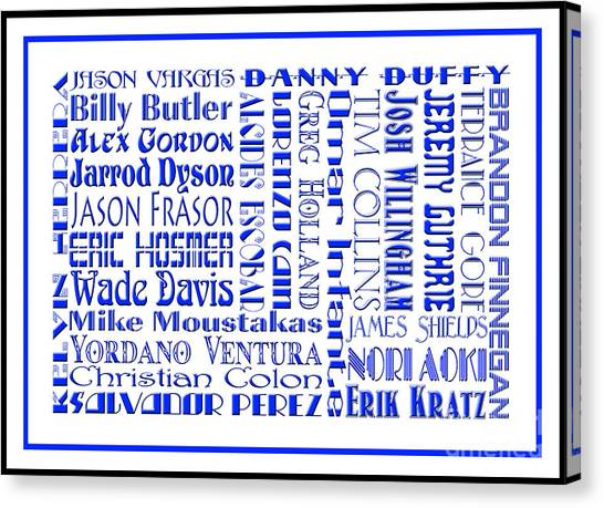 Kansas City Royals Canvas Print - Kansas City Royals The Boys In Blue 2014 by Andee Design