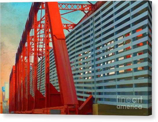 Kansas City Train Bridge - Pencoyd Railroad Bridge  Canvas Print