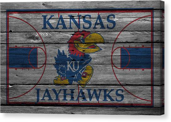 Ball State University Canvas Print - Kansas Jayhawks by Joe Hamilton
