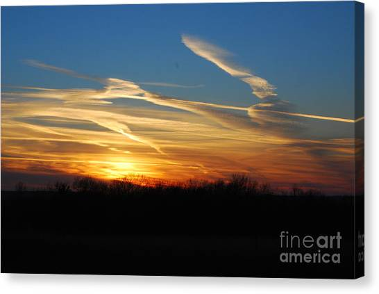 Kansas November Sunset Canvas Print