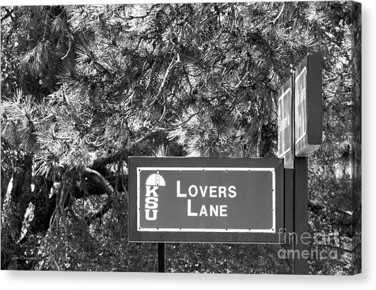 Big Xii Canvas Print - Kansas State University Lovers Lane by University Icons