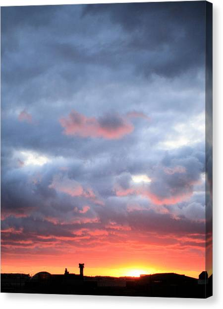 Air Traffic Control Canvas Print - Kansas Sunset by JC Findley