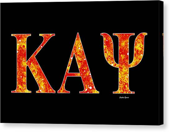 Alpha Kappa Alpha Canvas Print - Kappa Alpha Psi - Black by Stephen Younts