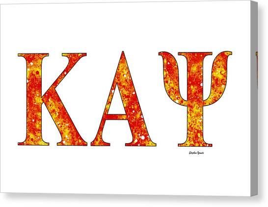 Alpha Kappa Alpha Canvas Print - Kappa Alpha Psi - White by Stephen Younts