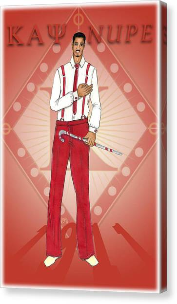 Alpha Kappa Alpha Canvas Print - Kappa Alpha Psi by BFly Designs