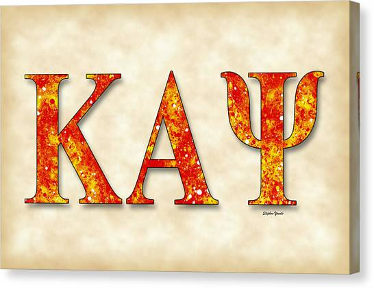 Alpha Kappa Alpha Canvas Print - Kappa Alpha Psi - Parchment by Stephen Younts