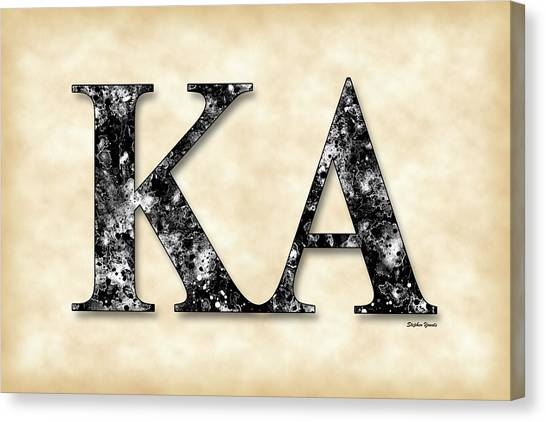 Alpha Kappa Alpha Canvas Print - Kappa Alpha Society - Parchment by Stephen Younts