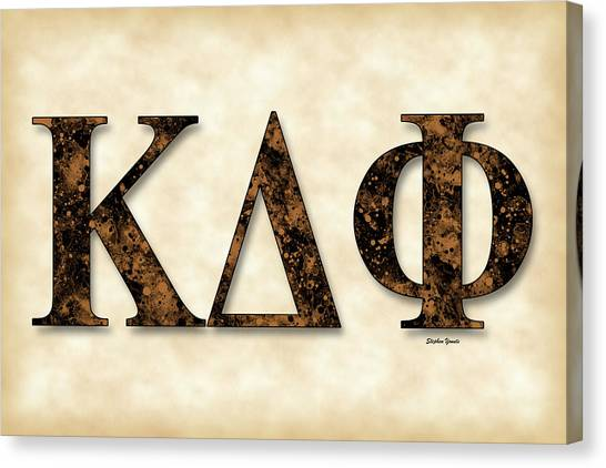 Kappa Delta Canvas Print - Kappa Delta Phi - Parchment by Stephen Younts