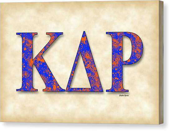 Kappa Delta Canvas Print - Kappa Delta Rho - Parchment by Stephen Younts