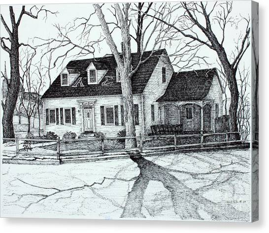Ohio Valley Canvas Print - Kappa Sigma House Apsu by Janet Felts