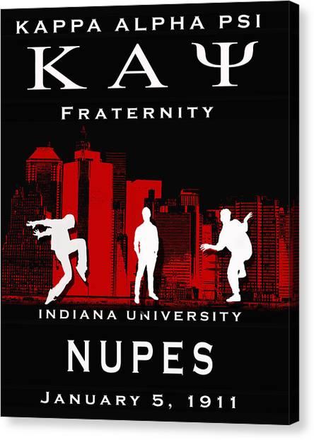 Kappa Alpha Psi Canvas Print - Kappa Steppin In Black by Rodney Wofford