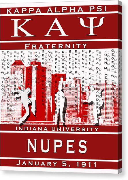 Alpha Kappa Alpha Canvas Print - Kappa Steppin In The Streets by Rodney Wofford