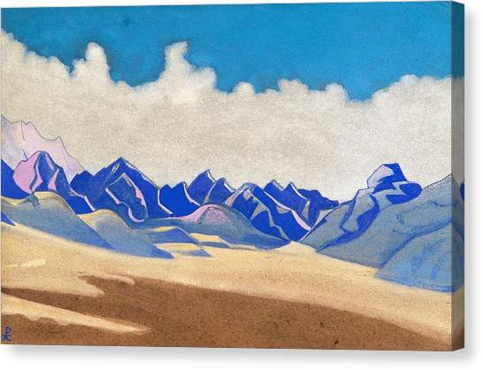 Karakoram Canvas Print - Karakoram - Path To Turkestan by Nicholas Roerich