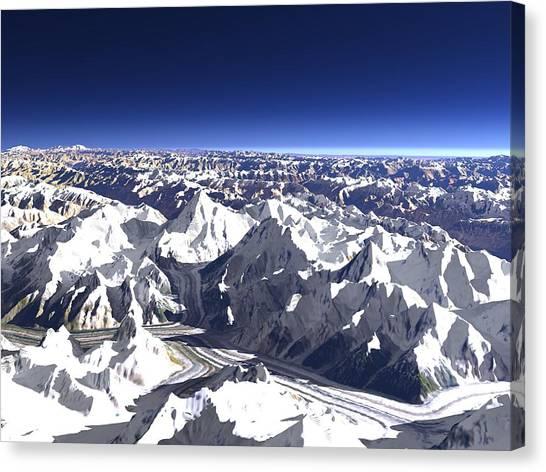 Karakoram Canvas Print - Karakoram Mountains by Christoph Hormann/science Photo Library
