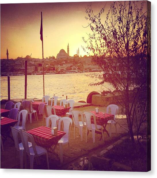 Suleymaniye Canvas Print - Karakoy District In Istanbul by Istanbulimage
