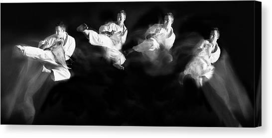Karate #1 Canvas Print by Hilde Ghesquiere