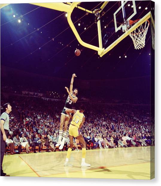 Ucla Canvas Print - Kareem Abdul Jabbar Great Shot by Retro Images Archive