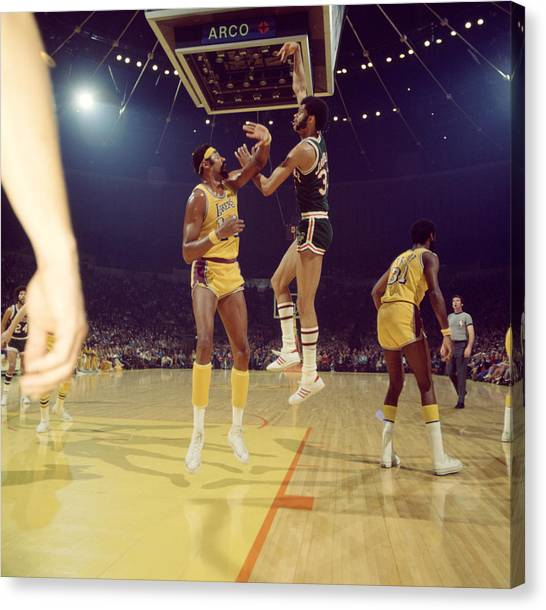 Ucla Canvas Print - Kareem Abdul Jabbar  by Retro Images Archive