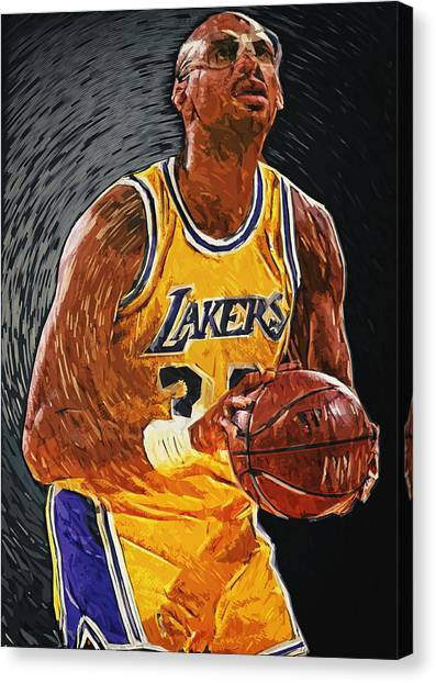 Milwaukee Bucks Canvas Print - Kareem Abdul-jabbar by Zapista