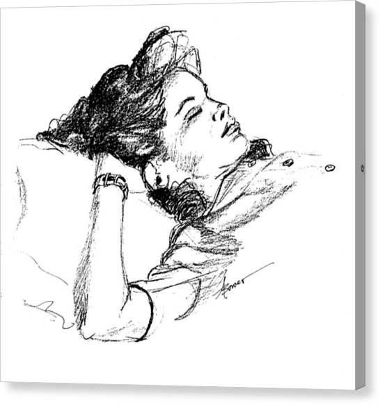Karen's Nap Canvas Print