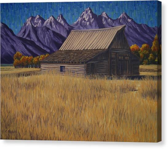 Karen's Teton Barn Canvas Print