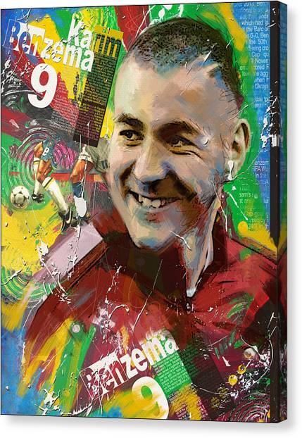 Fifa Canvas Print - Karim Benzema by Corporate Art Task Force