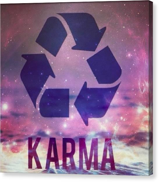 Karma Canvas Print - Karma🙈 #karma #scary #funny by Mae Simms