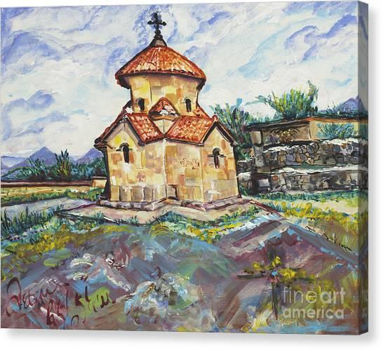 Karmravor Church Vii Century Armenia Canvas Print