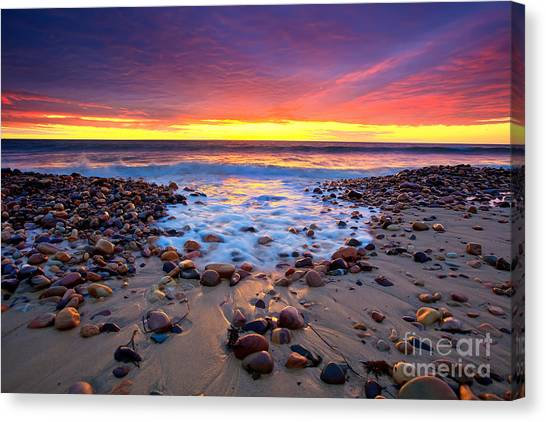 Beach Sunsets Canvas Print - Karrara Sunset by Bill  Robinson