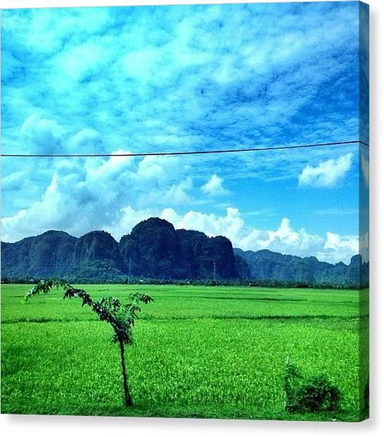 Karsts Canvas Print - #karst #hills #makassar #sulawesi by Fajar Triwahyudi