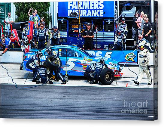 Kasey Kahne's Last Stop Before Victory Canvas Print