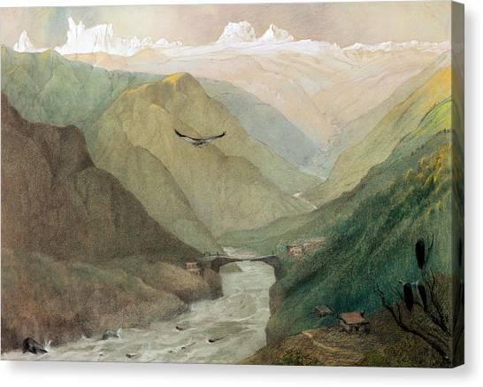 Himalayas Canvas Print - Kashmir, C.1860 Wc by George Landseer