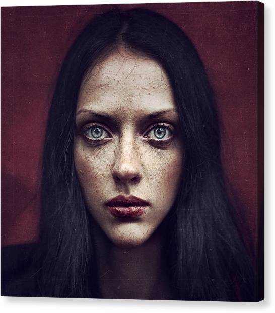 Red Eye Canvas Print - Kate by Anka Zhuravleva