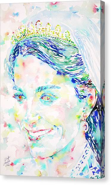 Kate Middleton Canvas Print - Kate Middleton Portrait.2 by Fabrizio Cassetta
