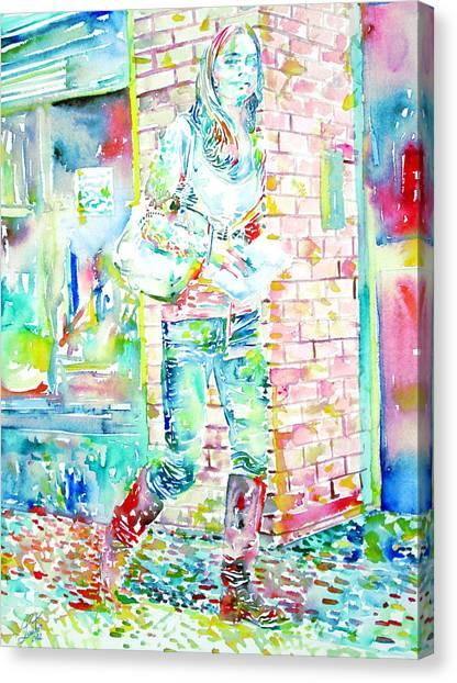 Kate Middleton Canvas Print - Kate Middleton Portrait.3 Walking In The Street by Fabrizio Cassetta