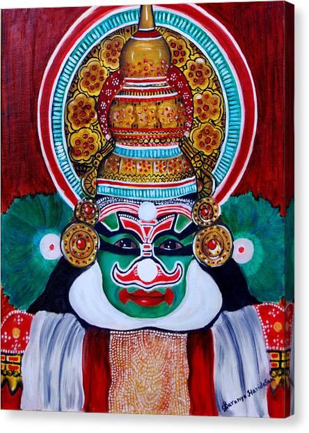 kathakali..Duryodhana Canvas Print