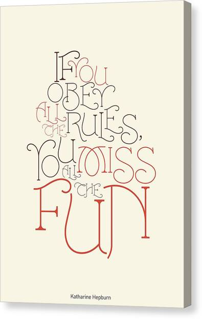 Funny sayings canvas print katharine hepburn typographic quotes poster by lab no 4 the