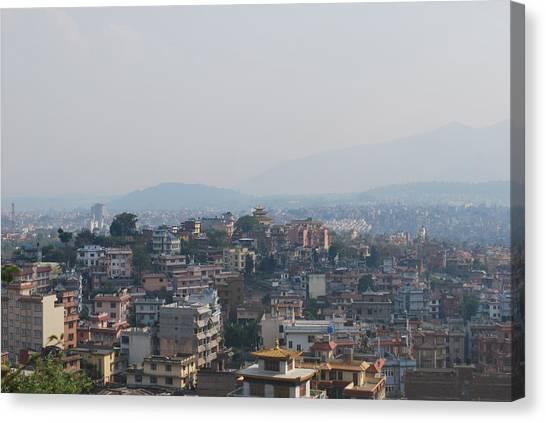 Street Scenes Canvas Print - Kathmandu Hills by Caius Lacey
